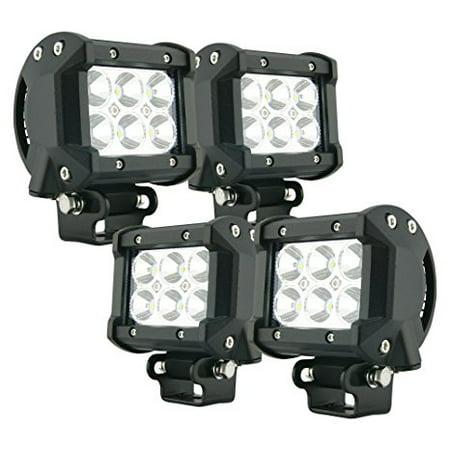 4pc DT MOTO™ 4' CREE LED Off Road Jeep Light Bar Spot 18W ()