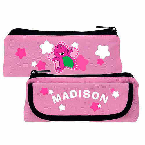 Personalized Barney Star Pink Pencil Case