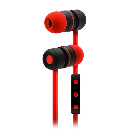 e11cc80401e Sentry Bluetooth, Rechargeable, Ear Buds with Built In Microphone, Red,  BT150RD - Walmart.com