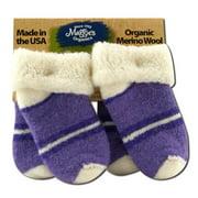 Maggies Functional Organics - Wool Socks Purple Infant 2 pk
