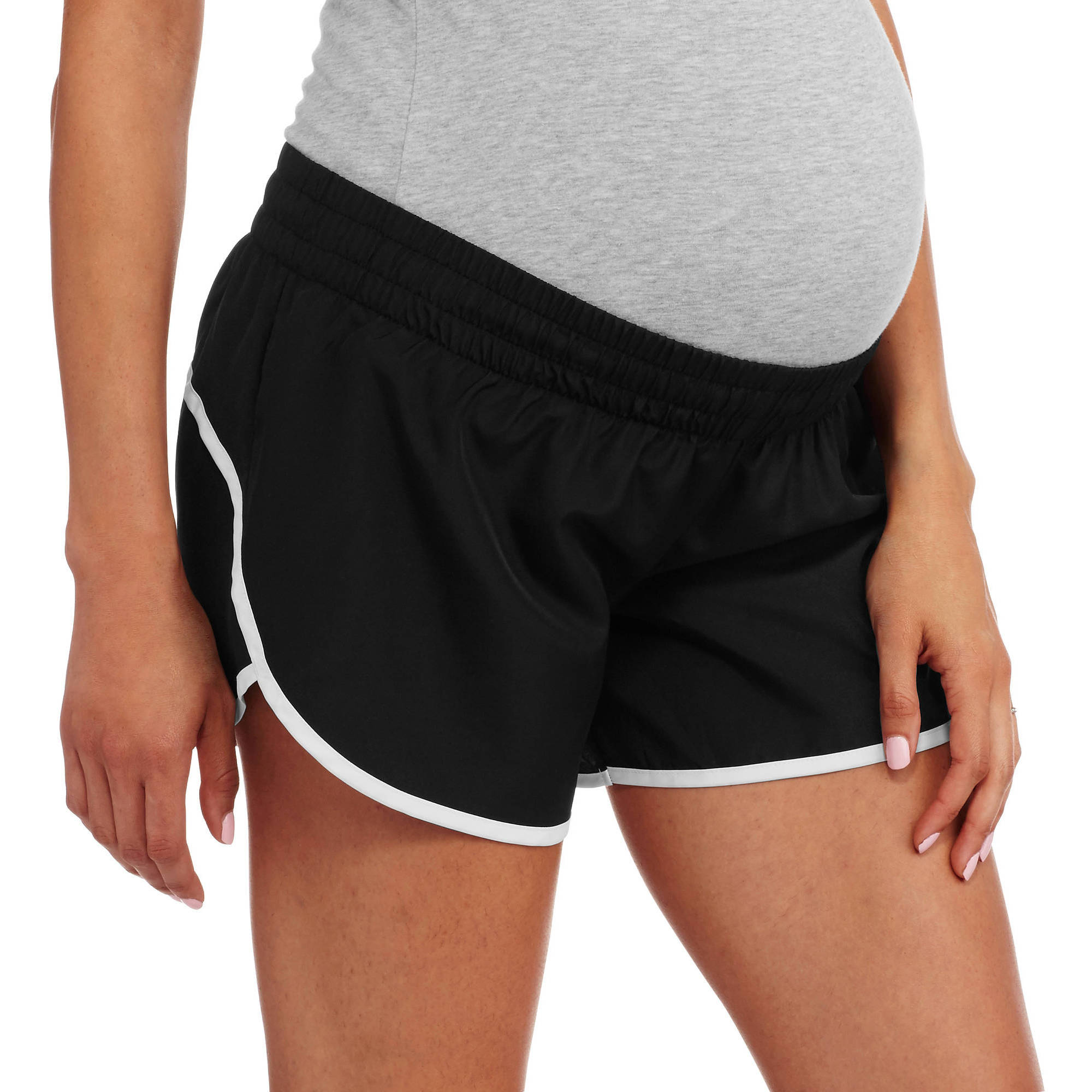 Danskin Now Maternity Woven Running Shorts with Liner