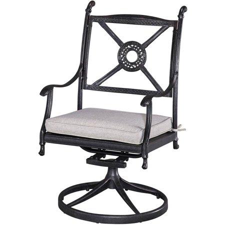 home styles athens outdoor swivel chair with cushion
