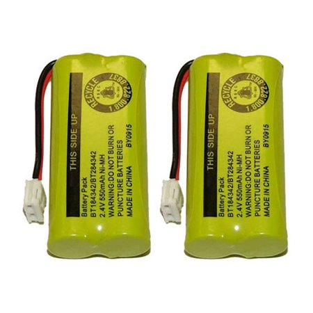 Replacement VTech BT18433 / 6042 NiMH Cordless Phone Battery (2 Pack) ()