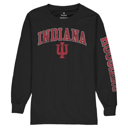 Indiana Hoosiers Fanatics Branded Youth Distressed Arch Over Logo Long Sleeve T-Shirt - Black