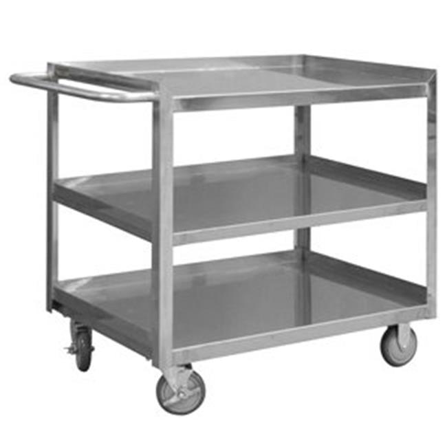 Durham SRSC1630603FLD5PU 35 in. Stainless 3 Shelves Stock Cart - 1200 lbs