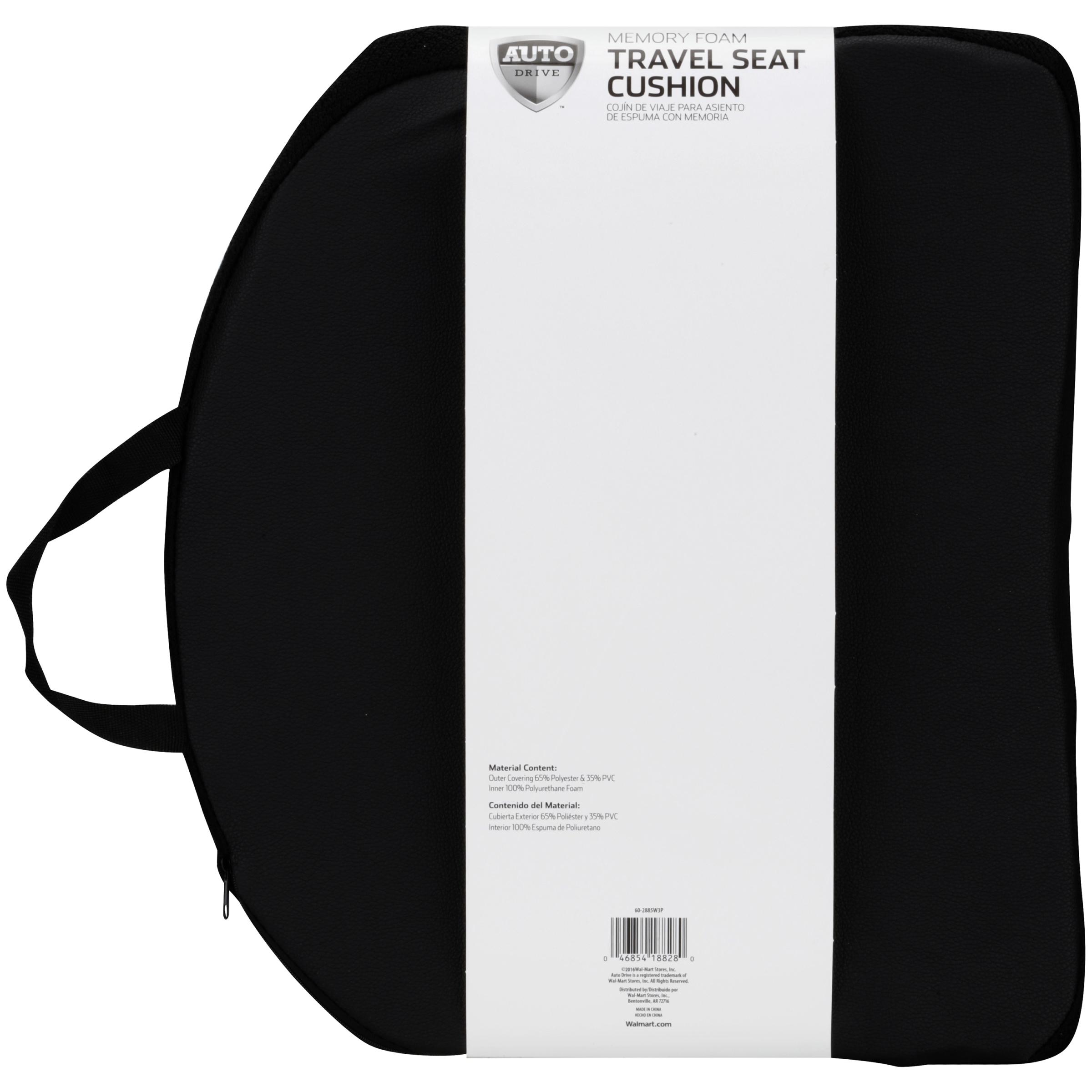Auto Drive Travel Memory Foam Seat Cushion - Walmart com