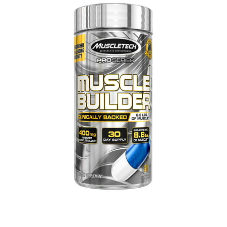 MUSCLETECH Série Pro Muscle Builder Libération Rapide 400 mg capsules 30 Ct