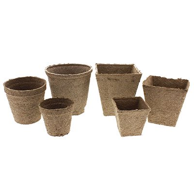 Peat Moss Pots (100 NEW Round Jiffy Peat Pots Size 3x3 ~ Pots Are 3 Inch Round At the Top)