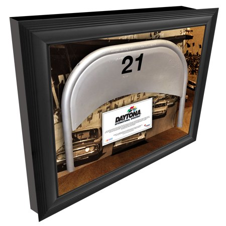 Fanatics Authentic Framed Daytona International Speedway Shadow Box with Generic Metal Seat & Vintage Image - No Size ()
