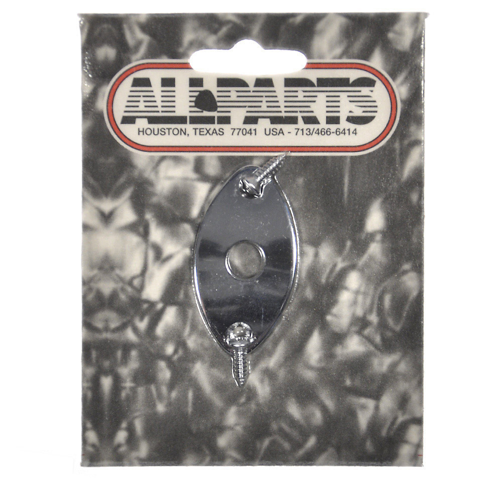 Allparts Football Jackplate - Chrome