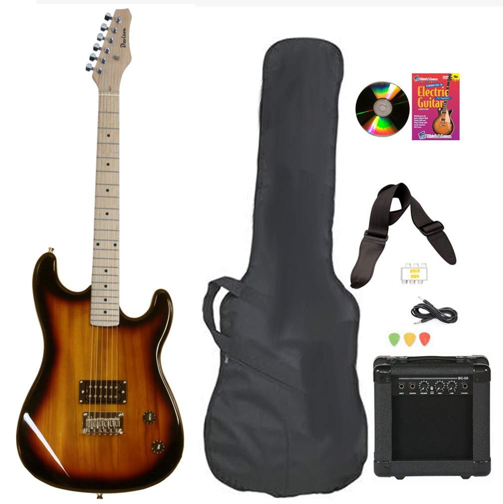 Davison Guitars Electric Guitar Vintage Sunburst Full Size With AmpCase Cord Picks And DVD