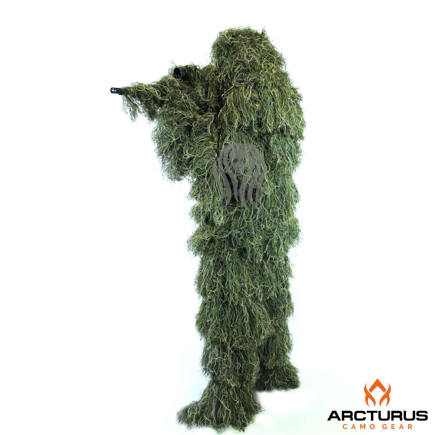 Outdoor Ghost Ghillie Suit  woodland dry grass 3D camouflage suit Regular size