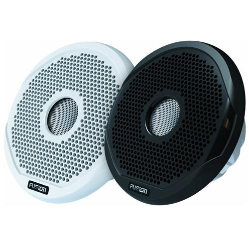"FUSION 7"" Round 2-Way IPX65 Marine Speaker - 260W - (Pair) White w/Interchangeable Black & White Grills FUSION 7 Inch Round 2-Way IPX65 Marine Speaker - 260W - Pair - White w/"