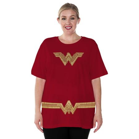 Plus Size Wonder Woman Halloween Costume T-Shirt