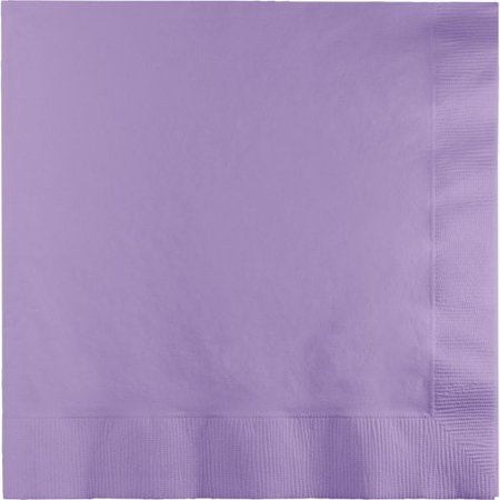 Touch of Color Lunch Napkins, 3-Ply, Luscious Lavender, 50 (Spider Man 3 Lunch Napkins)