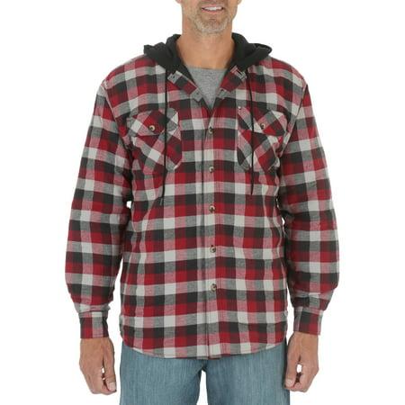 Wrangler Mens Heavyweight Hooded Shirt Jacket