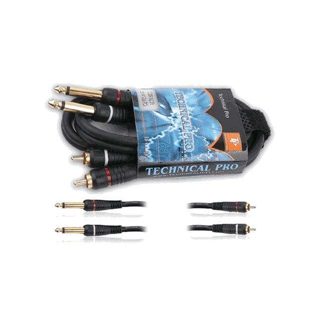Technical Pro 18 Gauge 6Ft Dual 1/4-Inch to Dual 1/4-Inch Audio Cables
