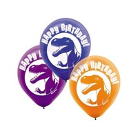 "Dinosaur Party 12"" Latex Balloons (6 Pack) - Party Supplies"