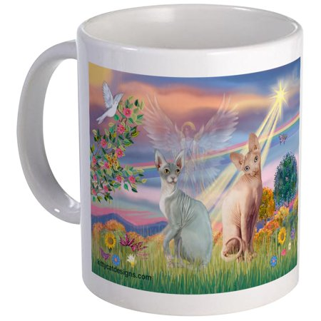 CafePress - Cloud Angel / Sphynx Cat Mug - Unique Coffee Mug, Coffee Cup CafePress
