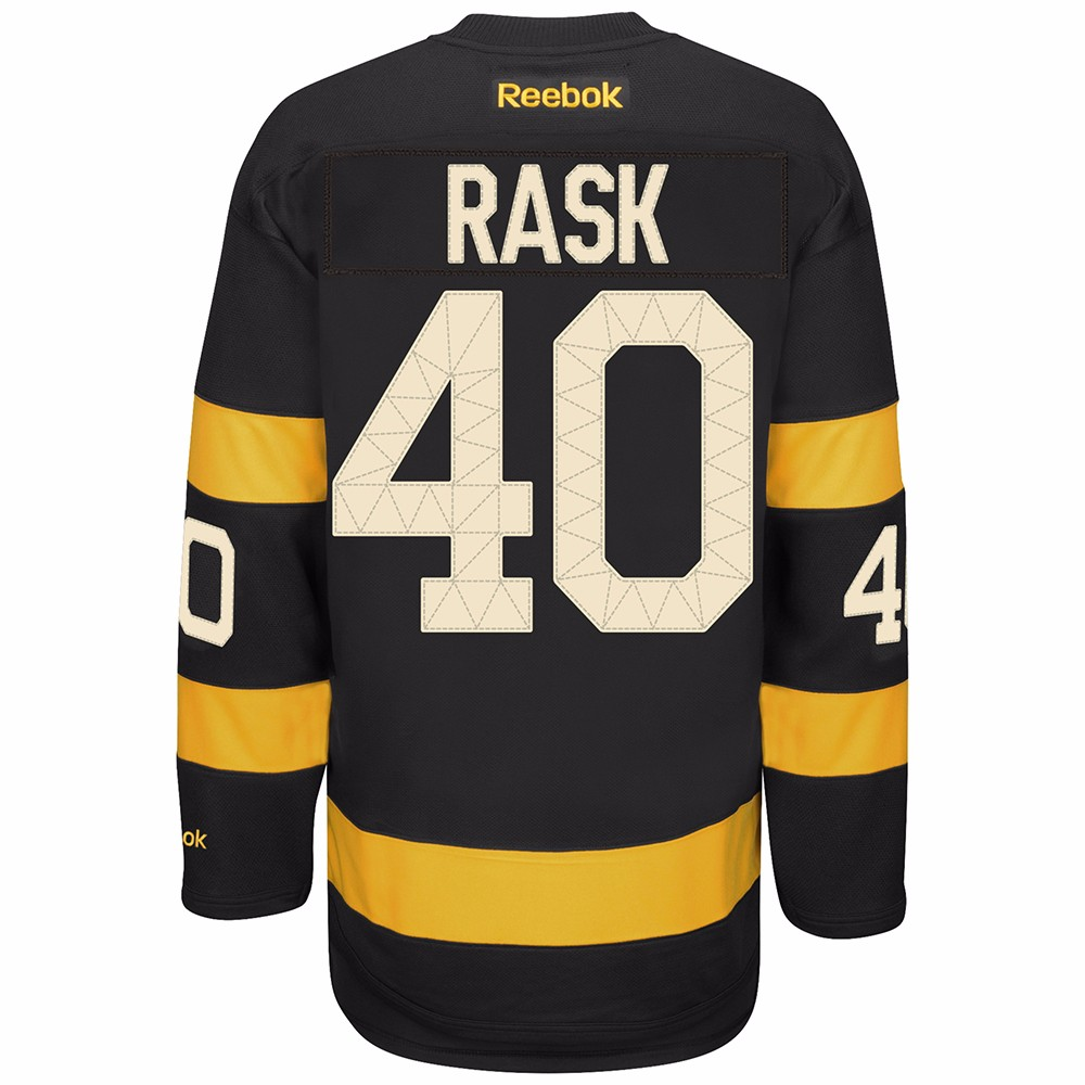 Tuukka Rask Boston Bruins NHL Reebok Black 2016 Official Winter Classic Premier Jersey For Men by Reebok