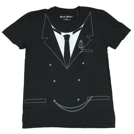 Butcher Halloween Costume (Black Butler Mens T-Shirt - Sebastian Costume Front Image)
