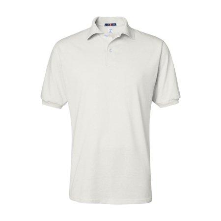 Maroon Striped Performance Polo - Jerzees Sport Shirts SpotShield? 50/50 Sport Shirt 437MSR
