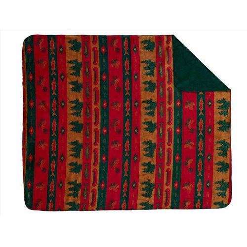 Denali Throws  Fish Lodge Double-Sided Throw