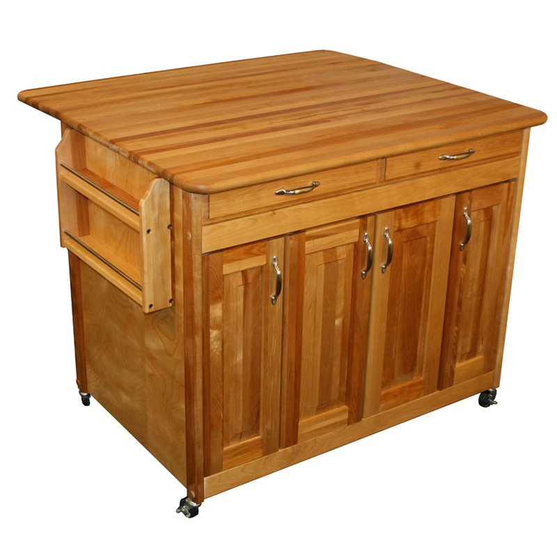 Catskill Butcher Block WorkCenter PLUS with Drop Leaf
