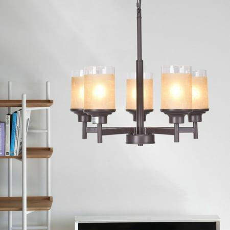 Fine Art Lamps Modern Chandelier (Gymax Elegant Modern Ceiling 5-Light Chandelier Lighting Fixture Pendent Lamp Home)