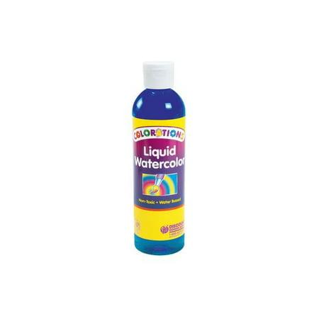 Colorations Liquid Watercolor Paint, Blue - 8 oz. (Item #