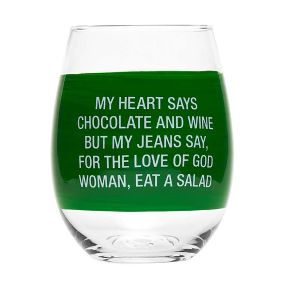 About Face Designs Wine Glass- My Jeans Say by About Face Designs