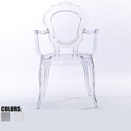 2xhome Clear Transparent Modern Ghost Chair Armchair Vanity Dining Room Lounge Acrylic Molded Mirrored Furniture Desk Vanity Dining Chairs With Arms Armchair Accent Desk Work Living Room Office Work Acrylic Clear Cradle Chair