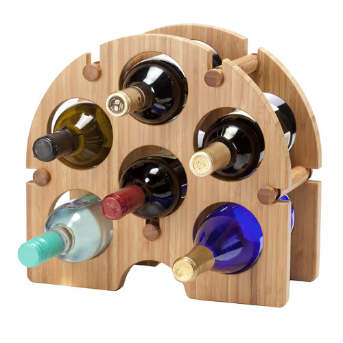 Oenophilia Bamboo Arch 6 Bottle Tabletop Wine Rack