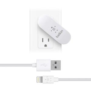Belkin Dual Swivel Charger with Lightning to USB Cable (1...
