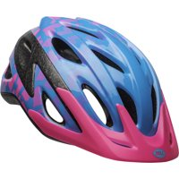 Bell Axle Child Bike Helmet, Blue/Pink/Vivid Hearts