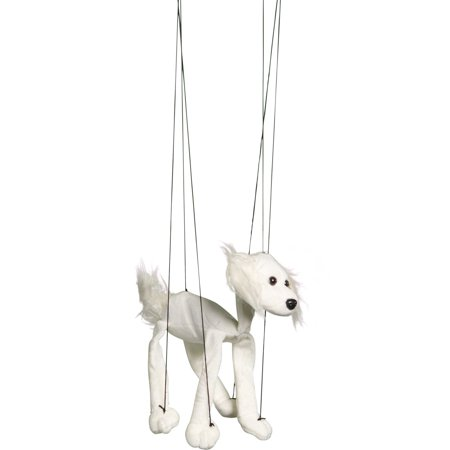 Sunny Toys WB347A 16 In. Baby Mutt - White, Marionette Puppet