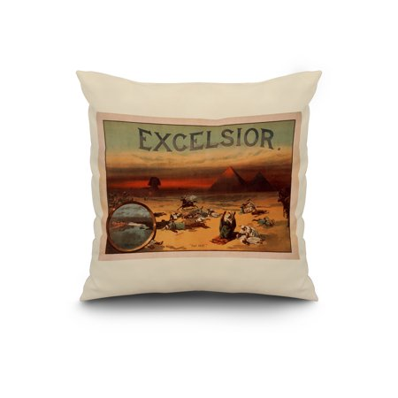 Excelsior Theatrical Play Poster 2 20x20 Spun Polyester Pillow White B