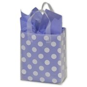 Deluxe Small Business Sales RSBG-CDOT9 8 x 4 x 10 in. Dots Resale Frosted Gift Bags, White on Clear