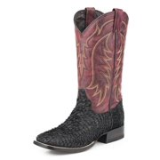 Stetson Western Boots Mens Fish Scales Black 12-020-8838-3604 BL