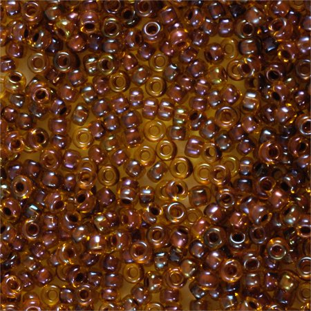Miyuki Round Rocaille Seed Bead 15/0 Color Lined Beige/Light Brown (3 Gram (Round N Brown Tube)
