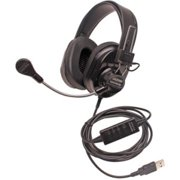Califone Deluxe Multimedia Stereo Headsets w/Mic, USB - Over-the-head