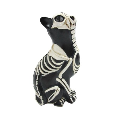 Day of the Dead Cat Meowing Muertos Cat Sugar Skull Cat Halloween Day of the Dead Decor 6 inch - 6 Days Till Halloween