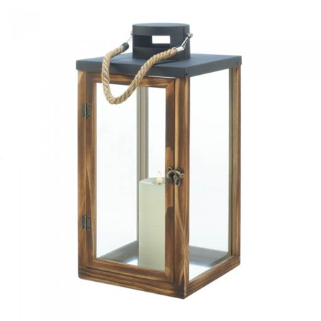 METAL TOP WOODEN LANTERN