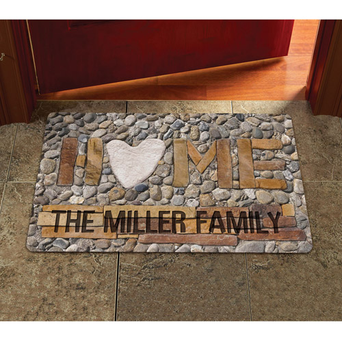 "Personalized Home Doormat Available In Sizes 17"" x 27"" and 24"" x 36"
