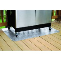 "G-Floor Grill Mat, 47"" x 32"", Diamond Tread, Metallic Silver"