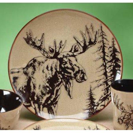 10.5 Inch Glazed North American Woodlands Design Plate, - America Plate