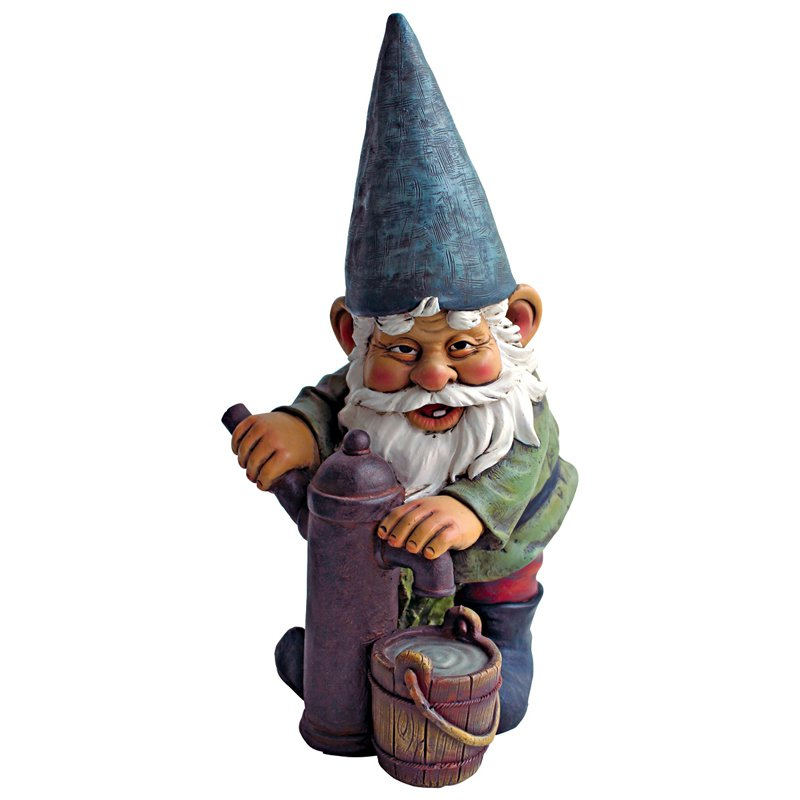 Design Toscano Water Pump Pete Garden Gnome Statue by Design Toscano