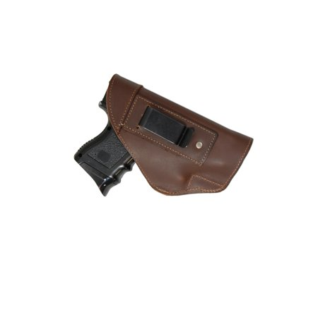 Barsony Right Brown Leather IWB Holster Size 17 Beretta CZ EAA Ruger Springfield Sig Compact 9 40 (Best Iwb Holster For Cz 75 Compact)