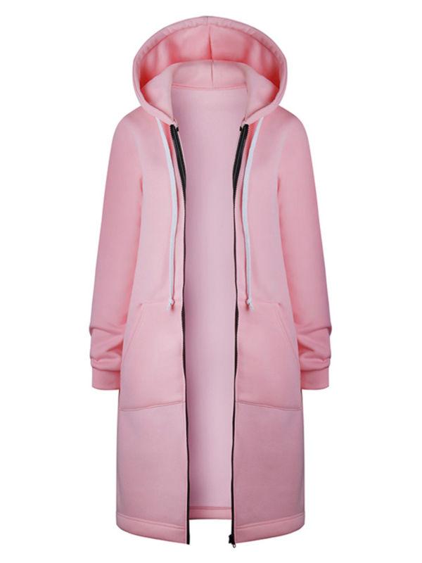 Women Hoodie Parka Long Jacket Trench Coat Ladies Winter Overcoat Plus Size 8-18