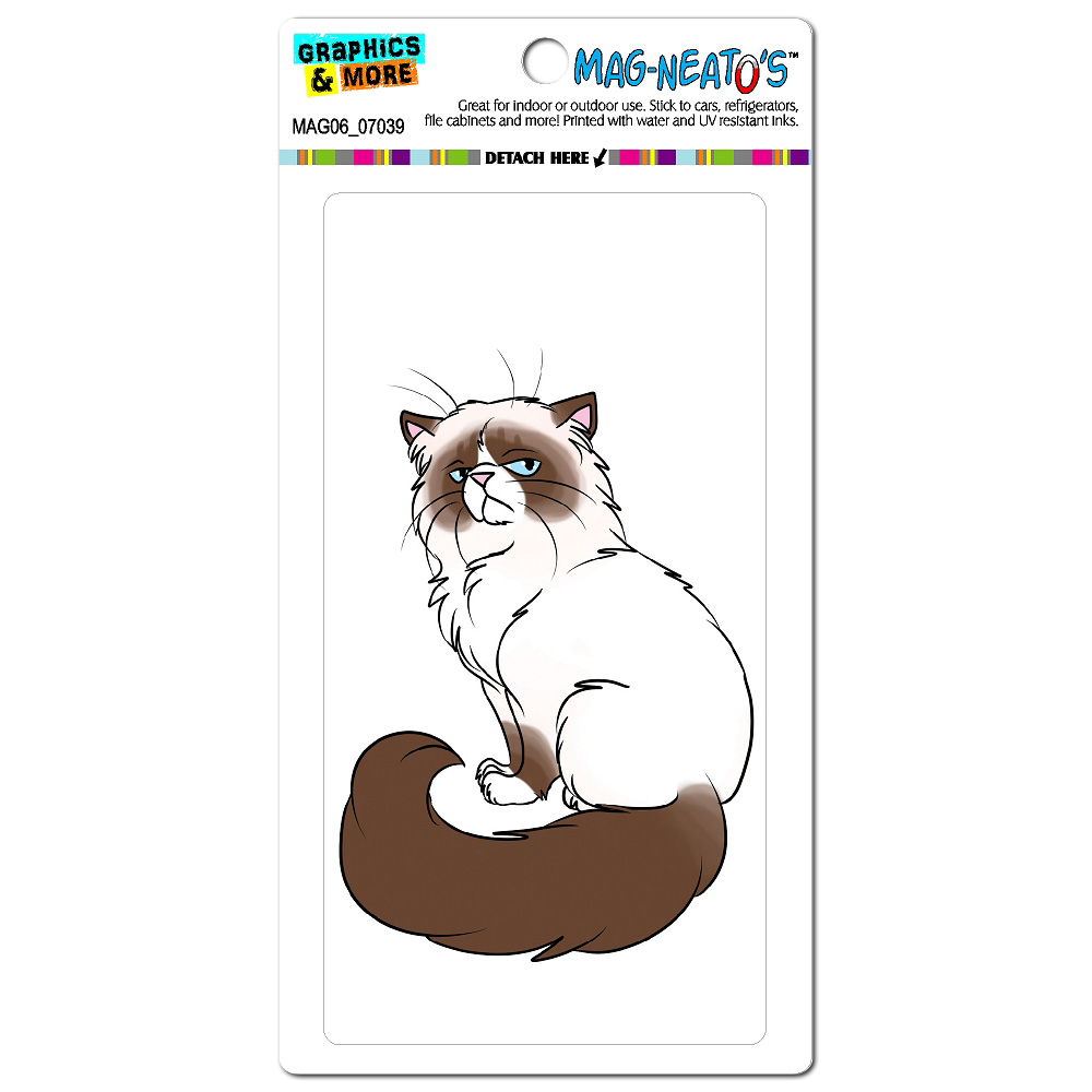Persian Cat Himalayan Color Points on White - Pet MAG-NEATO'S(TM) Car/Refrigerator Magnet